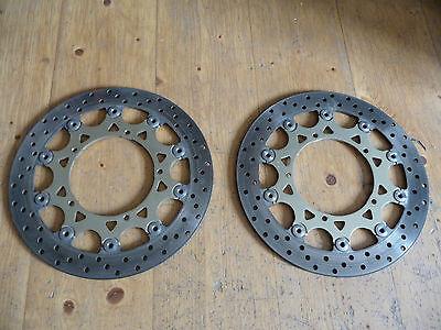 Bremsscheiben vorne für Yamaha R1 RN12 Bj. 04 - 06 320mm Top Zustand!