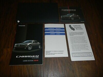 Dodge Charger Srt8 Manual (2010 DODGE CHARGER SRT8 OWNERS MANUAL SET WITH CASE + FREE SHIPPING )