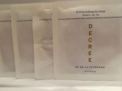 X5 DECREE ❤️SOS Revitalising Eye Masks~ Bio-Cellulose Treatment~ Dr AJ Sturnham