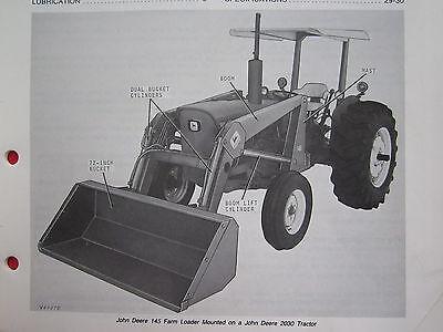 JOHN DEERE 145 FARM TRACTOR END LOADER OPERATORS MANUAL
