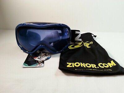 538d861f82 Zionor Ski Snowboard Snow Goggles UV Protection Blue Non Reflective Lens