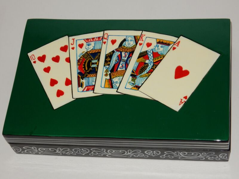 Wooden Laquer Playing Card/Poker Storage Box