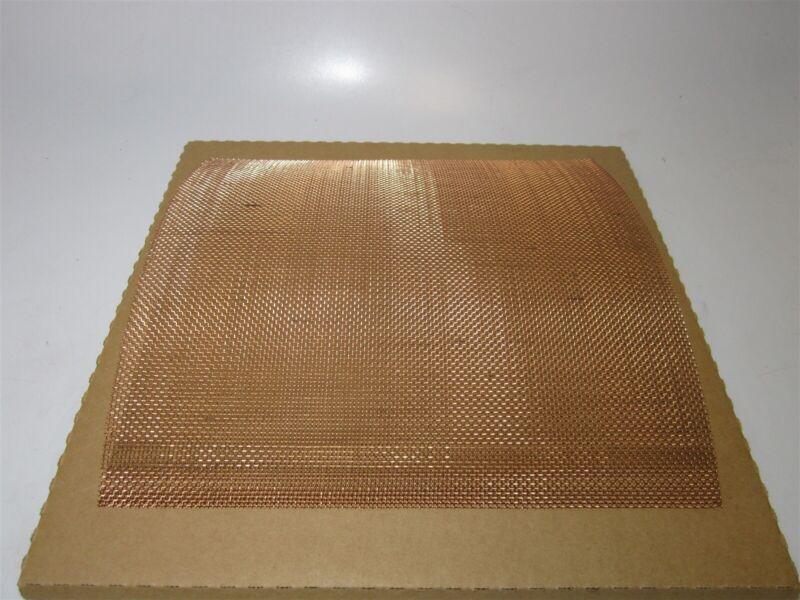"""12 x 12 x .023"""" Wire Dia. Plain Weave Coarse Copper Mesh Wire Cloth - QTY 3"""