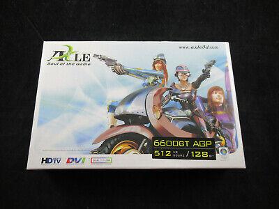 Axle GeForce 6600GT AGP 512 MB DDR2 128 bit - VGA/DVI/S-Video - Brand New Agp Vga Dvi S-video