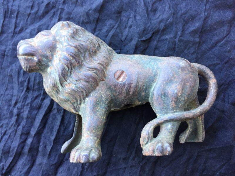 Antique Caste Iron Lion Bank