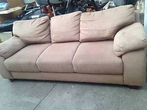 Nice Suede material 3 seater sofa, can delivery at extra fee. Forest Hill Whitehorse Area Preview