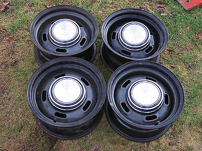 Ford Torino Ranchero Mustang Fairlane Cougar OEM 5 Hole 14x7 Set w/ Caps