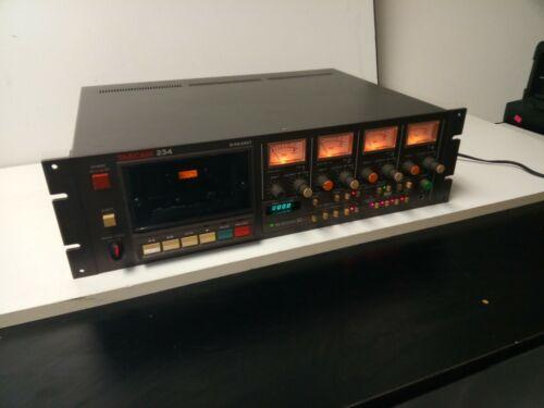 TASCAM 234 Syncaset 4-Track Rackmount Cassette Recorder Recently Serviced
