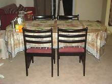 Black Dining Table + 6 Chairs Kingswood 2747 Penrith Area Preview