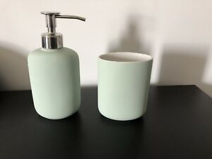 IKEA soap dispenser and tumbler
