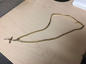 "18"" 14k gold chain trade for guitar"