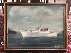 SHIP PAINTING BY M. G. BETHUNE