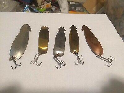 """3/"""" Photo Realistic Alewive Trolling Spoon Fishing Lure Tape Die Cut 10 Pack"""