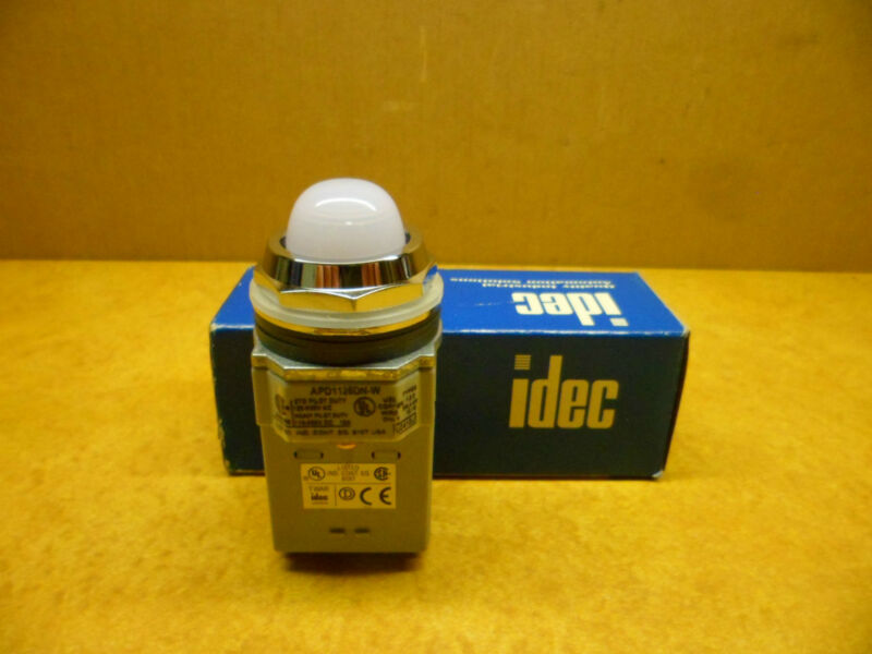 IDEC APD1126DN-W PILOT LIGHT WHITE NIB