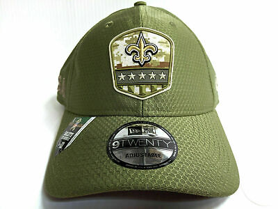 New Orleans Saints Cap New Era 9Twenty Adj 2019 Salute to Service Dad Hat