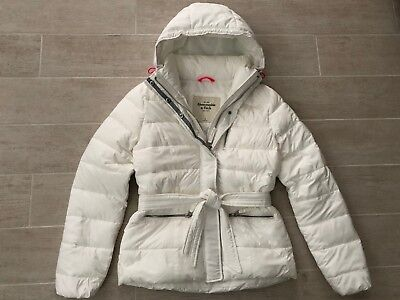 New Abercrombie & Fitch by Hollister Women Hooded Puffer Coat Jacket - White - S