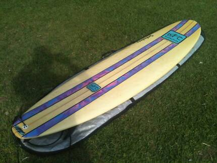 "Surf Factory 7'4"" Flat V Mini Mal Surfboard Moodlu Caboolture Area Preview"