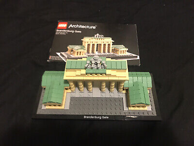 LEGO Architecture Brandenburg Gate Set 21011 USED Complete W/Manual
