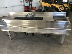 commercial stainless bar sink