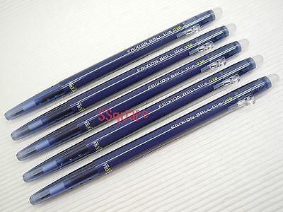 5pcs Pilot Frixion Ball Slim 0.38mm Erasable Rollerball Gel Ink Pen Blue-black