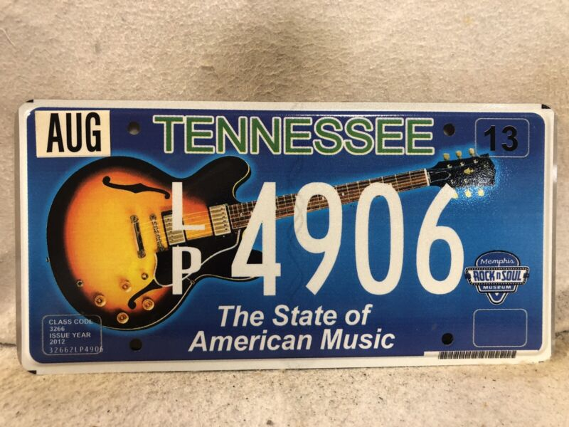 Tennessee The State Of Music License Plate