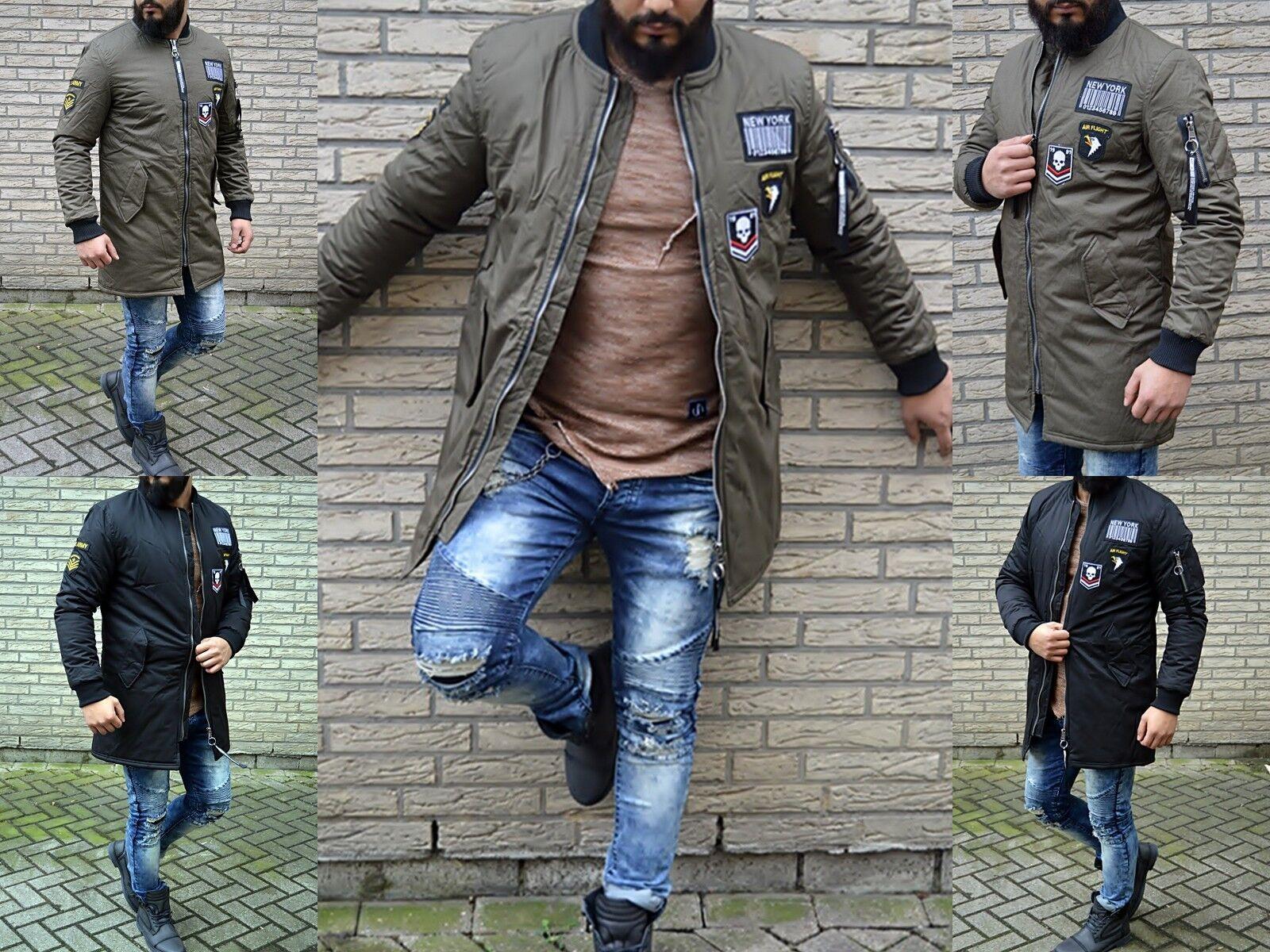 New Era Cappotto da uomo GHETTO lungo giacca bomber pilota Via / stile esercito