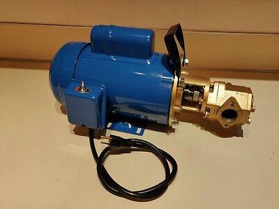Usa 12 Gpm 34hp Wvo Wmo Gear Transfer Pump - Waste Oil Svo Bio Usa