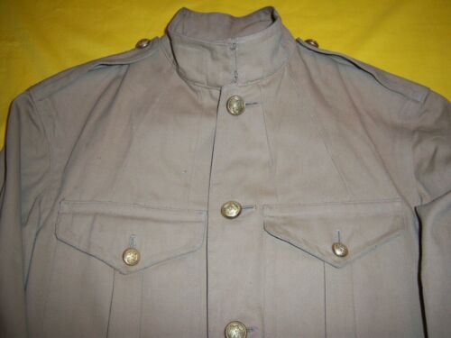 RARE 1901-1903 USMC ENLISTED TAN KHAKI SUMMER CAMPAIGN FIELD TUNIC MINT UNISSUED