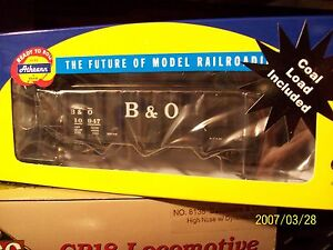 Athearn-HO-Scale-Trains-10947-B-O-Baltimore-Ohio-40-3-Bay-Hopper-Car-76437