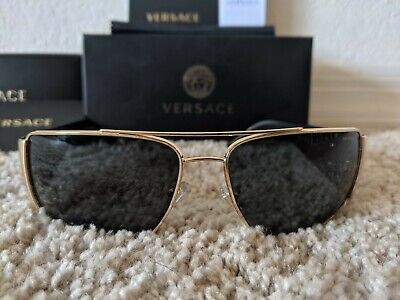 Versace Men's Sunglasses Model: 2163 Black/Gold Authentic, Certified,
