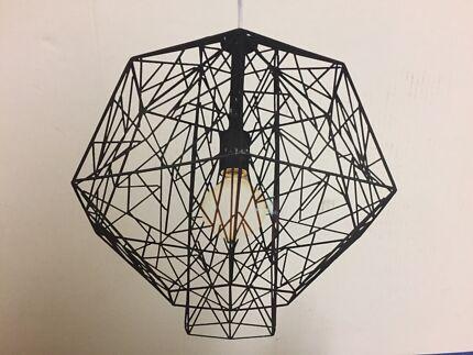 Dante matt black pendant