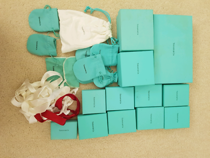 Tiffany boxes and bags