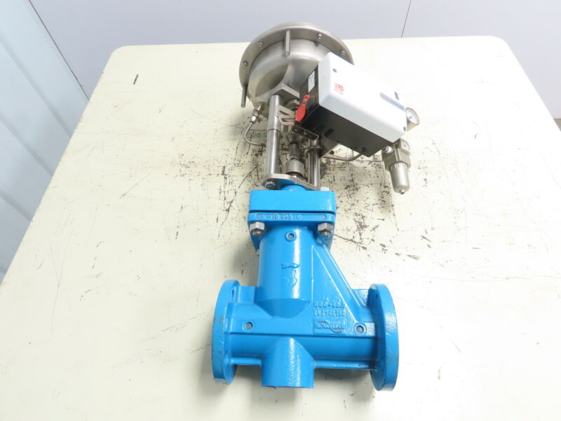 """Flowserve 1323P3 Pneumatic Control Valve 2"""" Flanged with Logix 522 MD Positioner"""