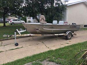 16ft Aluminum Fishing Boat w/18hp