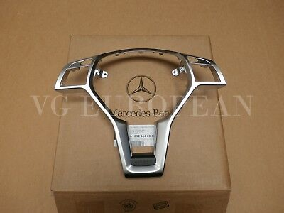 Mercedes Benz Genuine W204 C-Class Silver Steering Wheel Trim Cover for sale  Glendale