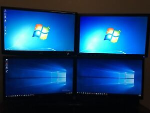 4 x 24 inch monitors with mount
