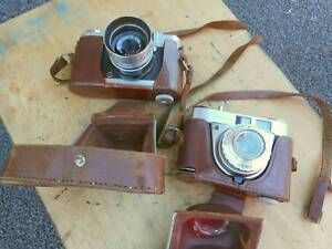 2 x old cameras - Hanimex Holiday 35 / Kodak Retinette 1A