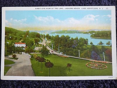 1930's Bird's Eye View of the Lake at Lake Hopatcong, NJ New Jersey PC