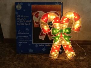 """20"""" Brilliant Holographic Candy Cane"""