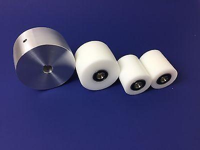 """2"""" x 72"""" Delrin & Aluminum Belt Grinder wheel set for knife making"""
