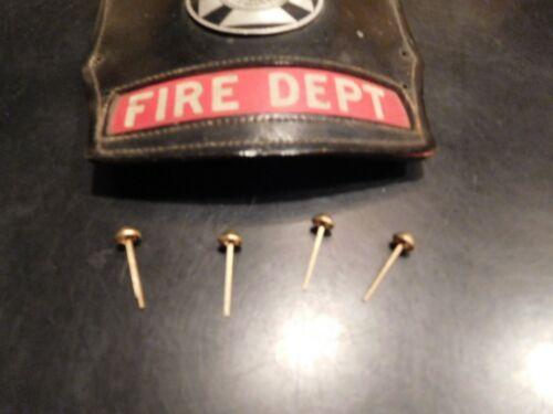 Fire Helmet Shield Brass Pin Holders  (Set of 4)