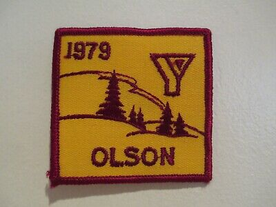 "VINTAGE - YMCA 1979 CAMP OLSON PATCH - MINNESOTA - NOS - SEW ON PATCH - 3"" X 3"""