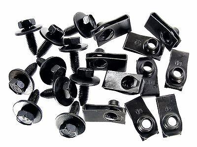 Body Bolts & U-nut Clips for Nissan- M8-1.25mm x 25mm long- 13mm Hex- 20pcs #153