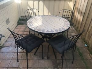 Mosaic Outdoor Table And 4 Chairs Outdoor Dining Furniture