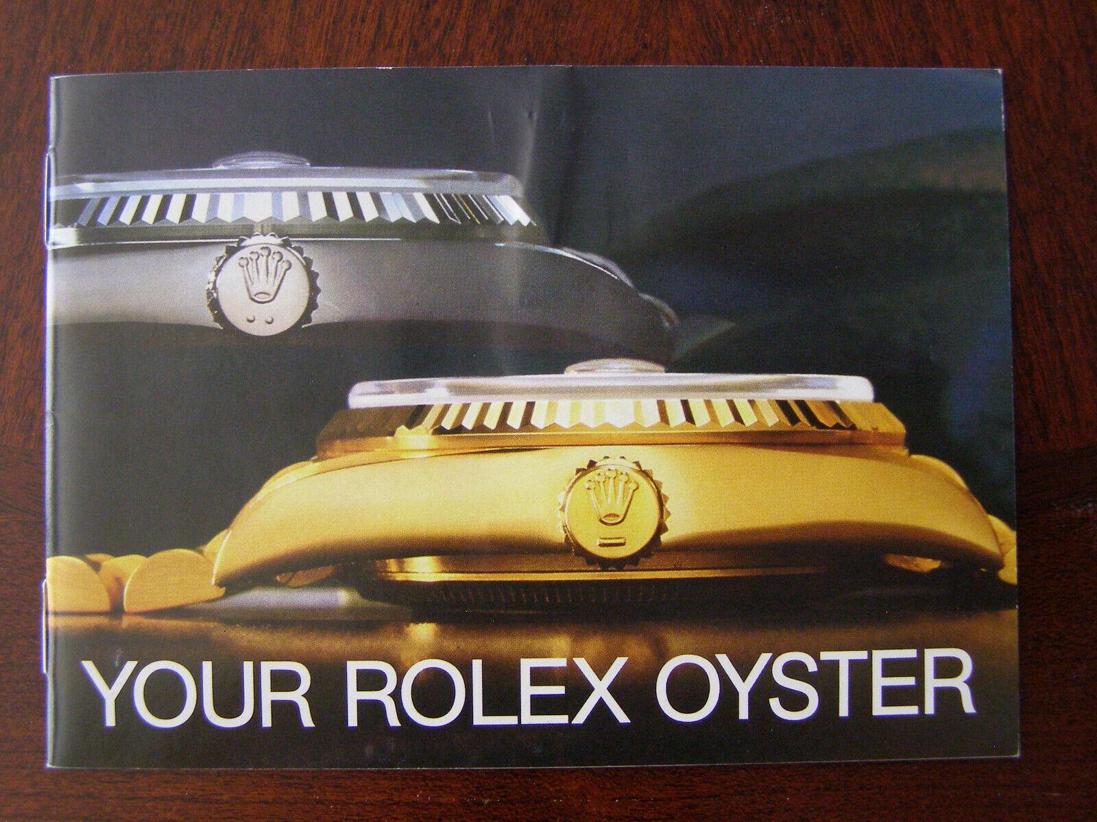 Vintage 1986 Genuine Rolex Oyster Booklet  - $39.99