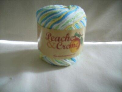Creme Ombre Yarn - Cotton Yarn Peaches & Creme cream Ocean Mist Ombre
