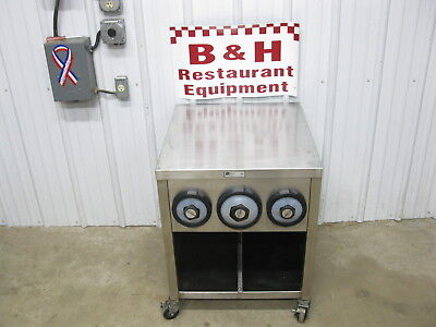 John Boos 24 Stainless Slushie Pop Soda Machine Table Cabinet W Cup Holders 2