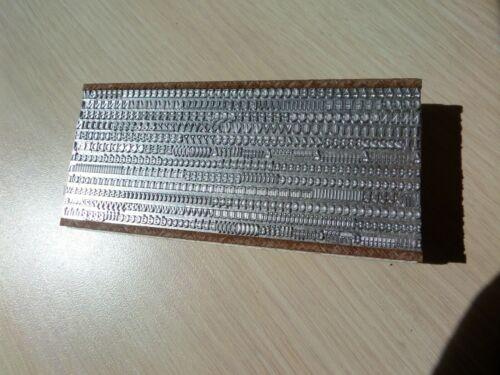 Letterpress Metal type