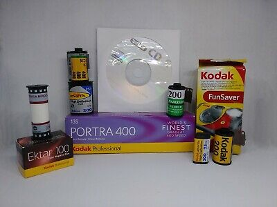 Film Developing + CD for C-41 or B&W 35mm / 120 Single Roll