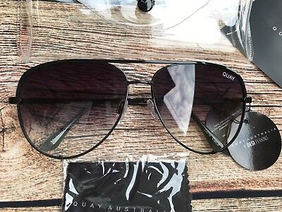 QUAY AUSTRALIA X DESI HIGH KEY BLACK FADE SUNGLASSES NEW & TAGS FREE SHIPPING